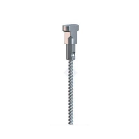 Attacco twister + cavo acciaio 200Cm.